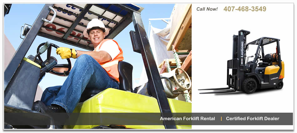 Forklift and lift training, rental, sales and repair near Orlando, FL.